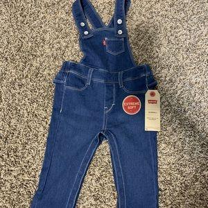 Brand new Baby girl Levi overalls
